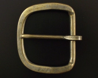 """ONE to FIVE 1.5"""" Antique Brass Mechanical Buckle"""