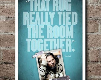 "The Big Lewboski ""RUG"" Quote Poster"