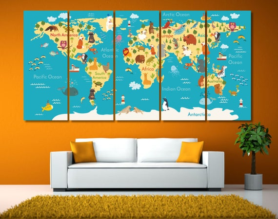 Large world map canvas art framed push pin map world map like this item gumiabroncs Image collections