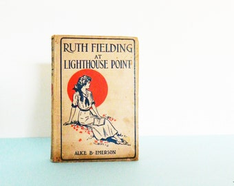 Antique Childrens Book / Vintage Book Decor / Illustrated Hardcover / Collectible Childrens Book 1913
