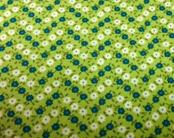 Contempo SOHO CALICO BLUES (Green 1) 100% Cotton Premium Fabric - sold by 1/2 yard