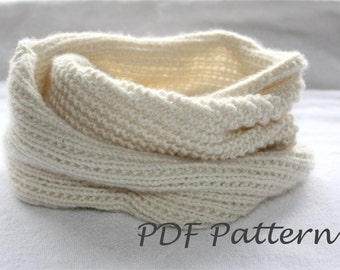 Easy Knitting PATTERN- Snood Knitting.  Infinity scarf Pattern PDF