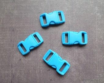 Lot 8 clips clasp bag sky blue Paracord Bracelet