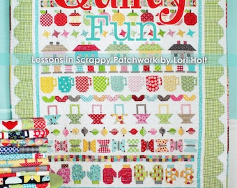 Sale!!!  Sale!!    QUILTY FUN:  Lessons in Scrappy Patchwork     Spiral-bound    BY-  Lori Holt, Its Sew Emma
