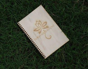 Customizable Wood Notebook