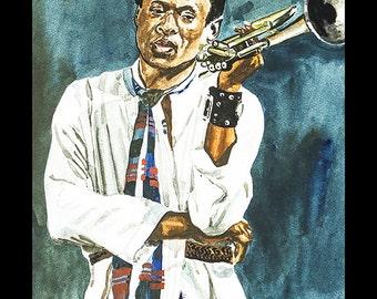 Miles Art on Canvas  (20x27) Jazz Art