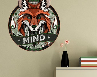 Fox Wall Sticker Decal MIND by Andreas Preis