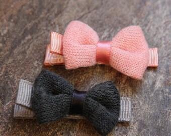 Mini Girl Hairbows, Baby Hair Barrettes, Girls Hair Bows, Baby Girl Hairbows, Baby Hair Clips, Girl Hair Accessories, Mini Bow Hair Barrette