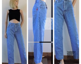 Vintage high waist womens jeans tapered leg jeans mom jeans size 31 inch waist