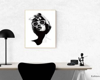 Ade Art Poster • Afrocentric Art Print, Home Decor, Art Posters, African Wall Art, Black Girl Magic, Melanin, African Art, Black Girl
