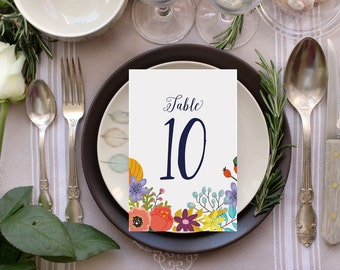 Table Numbers, Printable Table Numbers, Boho Wedding Decor Instant Download Table Numbers, DIY Table Numbers, The Napa Collection