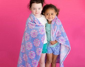 Monogrammed Preschool Blanket , Personalized Blanket, Preschool Blanker