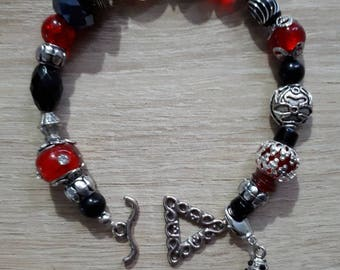 """Red Passion"" beaded chic bracelet"