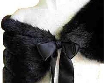 Black Fur  Stole / Shawl