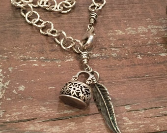 Fancy Sterling Silver Feather Bracelet