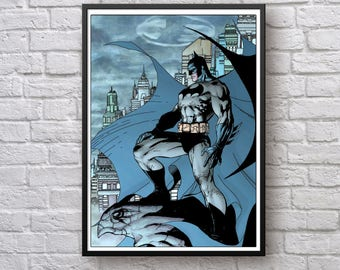 Batman Poster, Batman Print, Batman Art Print, Superhero Wall Decor, Batman Printable, Batman Wall Art, The Dark Knight Poster, Superhero