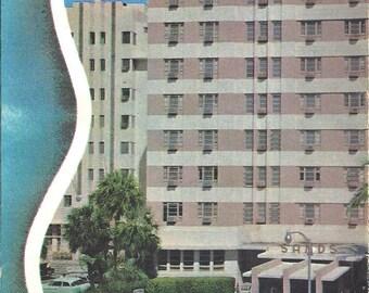 Vintage Large 1950's Sands Hotel Miami Beach Florida Fold Out Brochure Art Deco