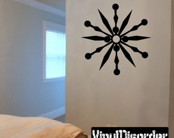 Snowflakes Vinyl Wall Decal Or Car Sticker - Mv004ET