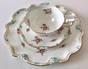 Beautiful Hand Painted Coalport Trio