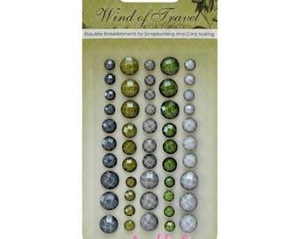"Set of 50 stickers rhinestone ""Wind of Travel 2"" embellishment scrapbooking card making *."