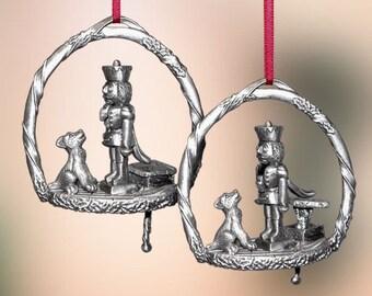 Pewter Nutcracker Christmas Ornament