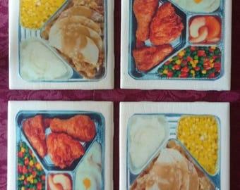 TV Dinner Coasters