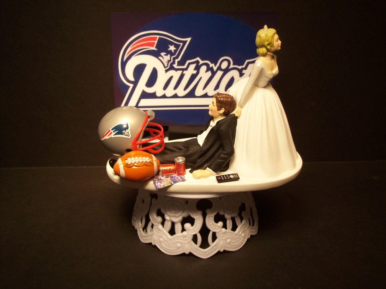 Patriots New England Football Wedding Cake Topper Sports Funny