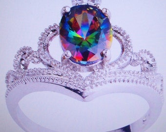 Hand Crafted Mystic Rainbow Ring