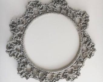 Vintage Style Crochet Wreath, Stone