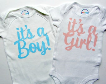 Baby Reveal Shirts Decoration Pregnancy Announcement Shirts Its a Boy Its a Girl