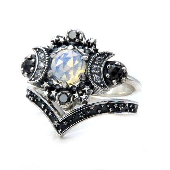 fashion corset ring moon silver gothic products grande engagement sterling dark purple brassiere rings harness