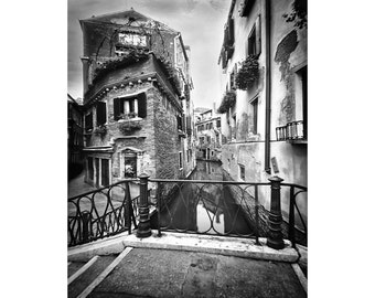 Black And White Venice Italy, City of canals, Veneto, Venezia, Pinhole photography, Fine Art Photograph