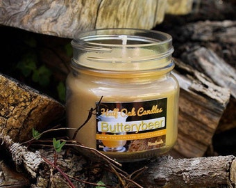 Butterbeer Inspired Scented Candle | Potter candle | Soy Candle Inspired Scented Candle - Book Candle - 8 oz - Bookworm Gifts