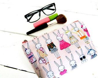 Waterproof makeup bag Fifi Lapin Wet toiletry bag Pink wash bag Zip case Travel makeup organizer Toiletry storage Cosmetic clutch Zip pouch