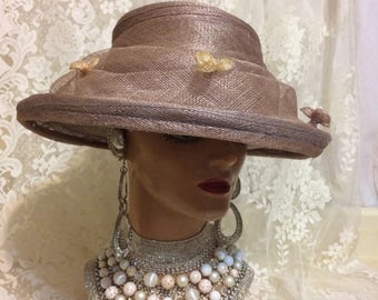 Stunning Straw Tea Party Hat