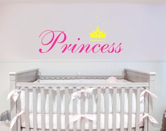 Princess With Crown Removable Wall Decal