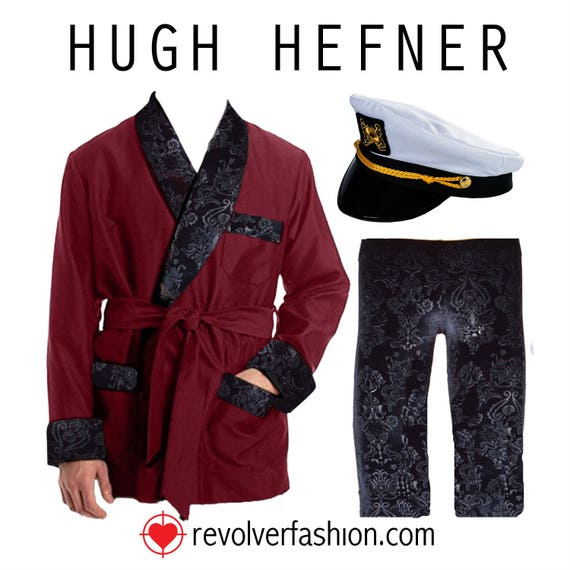 Hugh Hefner Velvet Smoking Jacket Lounge Pants Costume