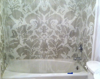 Designer shower mosaic tile