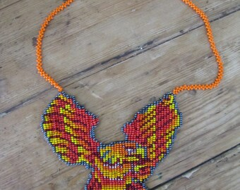 Eagle Beaded Necklace