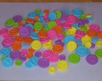 Buttons great for lalaloopsy cakes or cupcakes-48 ct.