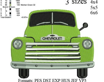 Old Pickup Truck, old truck, old car, Old Chevy Truck,embroidery pattern No 504 ... 03 sizes,instant download