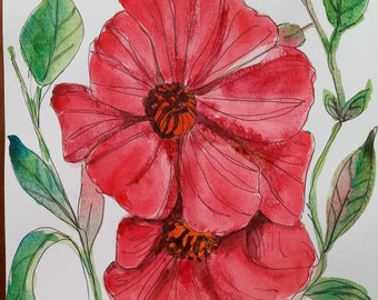 """Watercolor painting """"The Power of Passion"""""""