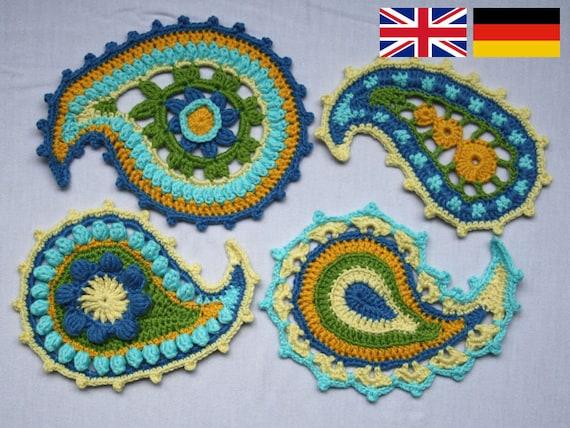Paisley Floral Crochet Pattern Pdf In English Deutsch