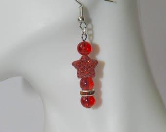 Glitter Stars Earrings A10636