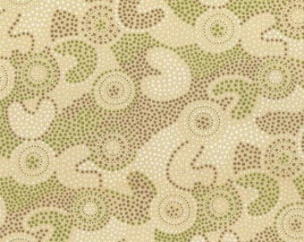 Gooloo Spot in Cream - Fat Quarter (.25m)