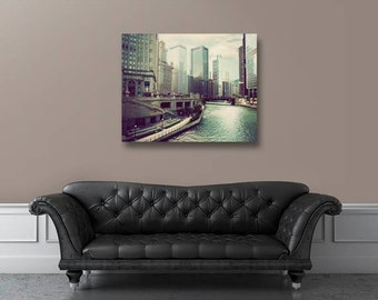 Canvas art, gallery wrap, Chicago photography, Chicago canvas, home decor, large wall art, Chicago photograph