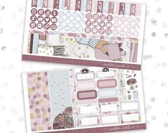 April - Mauve-lous // B6 Monthly Planner Sheet (100 Planner Stickers)