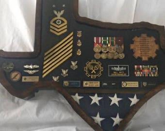 Navy Shadow Box Etsy