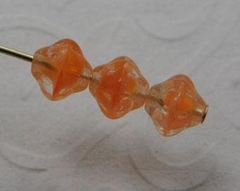 Czech Saturn Beads 6mm Flying Saucer UFO Crystal Orange Mix (25pk) SRB-6x5S-COM