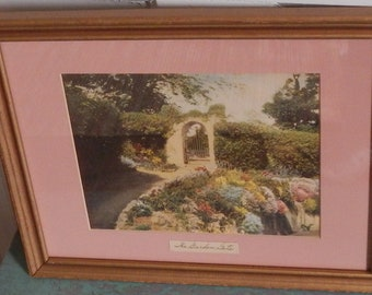 Wallace Nutting Like Cottage Hand Tinted Vintage Framed Photograph!